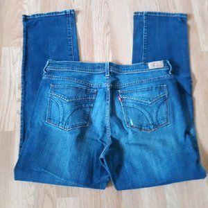 LEVIS Red Tab 505 Straight Leg Fit Denim Blue Jean